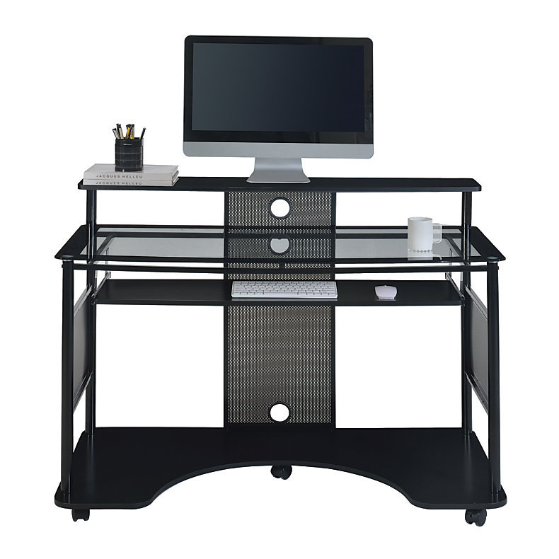 Z Line Designs Mobile Workstation Desk Black 218462