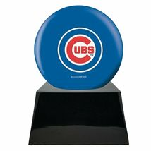 Large/Adult 200 Cubic Inch Chicago Cubs Metal Ball on Cremation Urn Base image 2