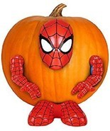 Gemmy Halloween Marvel Pumpkin Push-Ins The Ultimate Spider-man Spiderma... - £9.78 GBP