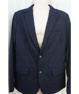 Kenneth Cole Reaction Mens Jacket Sz XL 47 Dark Denim Blue Blazer Busine... - $69.26