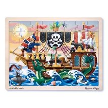 Melissa & Doug Deluxe Wooden 48-Piece Jigsaw Puzzle - Pirates - $8.86