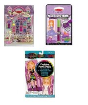 Melissa and Doug Girls On the Go Fashion Surprize Ink, Scratch Art and D... - $16.73