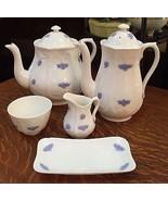Adderley English EMBOSSED CHELSEA BLUE TEA SET ... - $494.01