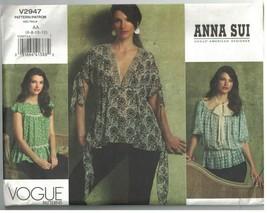 2947 Uncut Vogue Couture Motif Femmes sans Doublure Coupe Large Blouse A... - $14.80