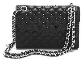Rebecca Minkoff Quilted Mini Affair with Studs Shoulder Bag, Black