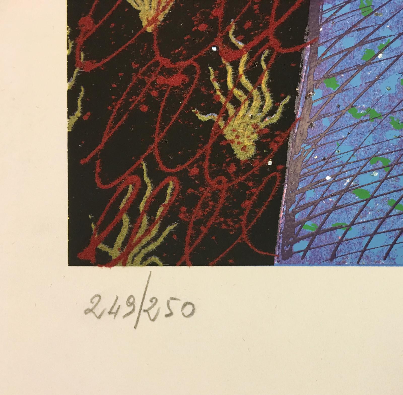 "Enrico Baj ""Untitled"" 1972 - Hand Signed Print - COA - See Live at GallArt"