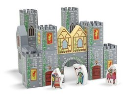 2 Item Bundle: Melissa & Doug 532 Castle Blocks Wooden Play Set + Free A... - $50.44