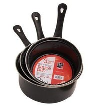 HDS Trading 3 Piece Sauce Pan Set Nonstick Finish - HDS Trading SP00339 - $12.85