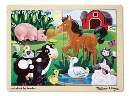 Melissa & Doug On the Farm Jigsaw Puzzle 12 pc - $7.18