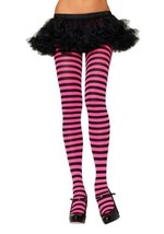 Nylon Striped Costume Tights - $9.44
