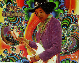 Hendrix-You Make Everything Groovy Metal Sign - $19.95