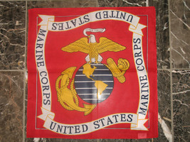 """Wholesale Lot 6 22""""x22"""" Red USMC Marine Marines EGA Bandana - $14.88"""
