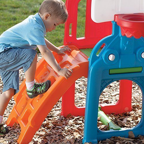 Fun Backyard Sports : Sports Climber Game Time Slide Basketball Outdoor Fun Ladder Backyard