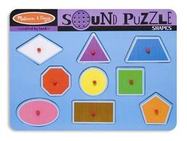 2 Item Bundle: Melissa & Doug 728 Shapes Sound Puzzle + Free Activity Book - $14.11