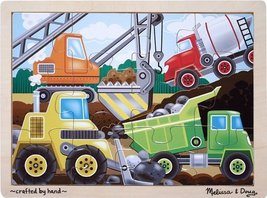Melissa & Doug Construction Site Jigsaw Puzzle 12 pc - $6.88