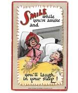 Artist Signed DWIG Raphael Tuck Postcard Smile While You're Awake Dwiggins - $6.69