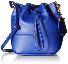 ZAC Zac Posen Eartha Envelope Mini Drawstring Bucket Bag, Cobalt, One Size - $211.12 CAD