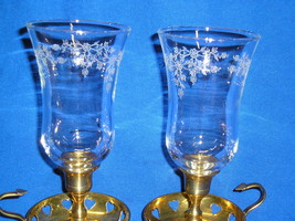 Two Homco 1191 Iced Filigree Vine Embossed Peg Votive Cup Candle Holder - $16.99