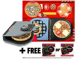 Press & Serve Waffle Set + FREE Melissa & Doug Scratch Art Mini-Pad Bundle - $24.50