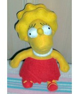 "Lisa Simpson Plush 11"" Wants Perfect Girl PlayMate with Big Hair! - $5.79"