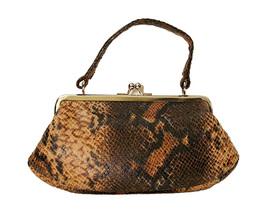 Snakeskin Look Printed Fabric Small Handbag Shoulder Bag Kathie Lee Coll... - $24.50 CAD