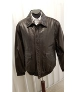 JOS A BANK Brown Leather Bomber Jacket - $149.00