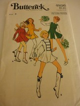 Vintage 1970s Cheerleader Majorette Skater Size 8 cut Butterick sewing p... - $10.88