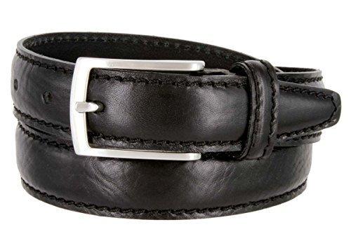 Made in Italy Oil-Tanned Italian Leather Dress Belt For Women (Black, 32) - $29.65