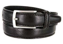 Made in Italy Oil-Tanned Italian Leather Dress Belt For Women (Black, 38) - $29.65