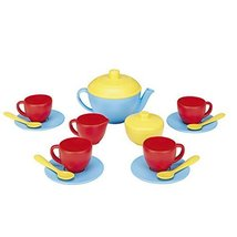 Green Toys Tea Set, Blue/Red/Yellow - $27.71