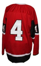 Custom Name # Quebec Remparts Retro Hockey Jersey New Sewn Red Any Size image 4
