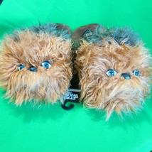 Star Wars Chewbacca Chewie Wookie Slip On Adult Slippers Disney Medium - $22.88