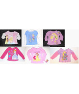 Disney Toddler Girls Long Sleeve T-Shirts Various Princesses and Sizes NWT - $10.49