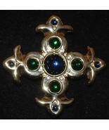 Vintage Stylized Fleur de Lis Cross Pin - $9.99
