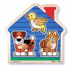 2 Item Bundle: Melissa & Doug 2055 House Pets Wooden Jumbo Knob Puzzle +... - $14.11