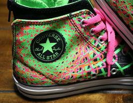 Converse Chuck Taylor All Star Zipback 649963C Black Pink Green Shoes Girls Sz 5 image 9