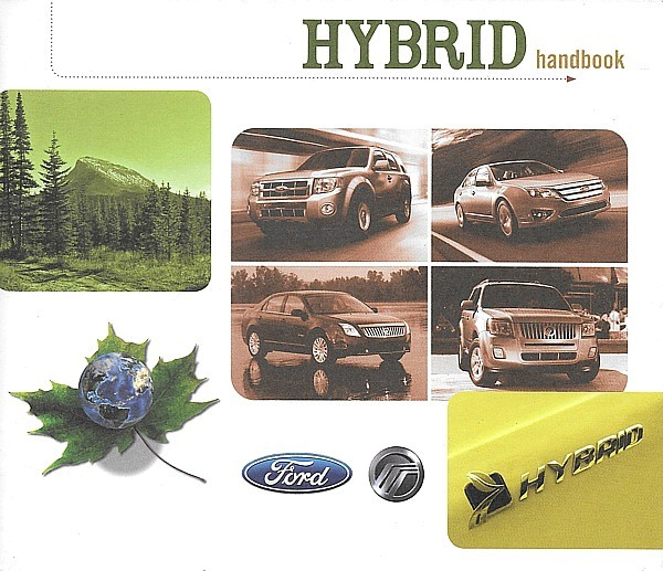 Primary image for 2009/2010 Ford Mercury HYBRID brochure catalog ESCAPE MARINER FUSION MILAN