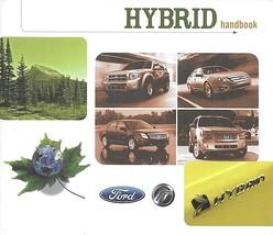 2009/2010 Ford Mercury HYBRID brochure catalog ESCAPE MARINER FUSION MILAN - $8.00