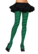 Nylon Striped Tights Hosiery - One Size - Dress Size 6-12 - $6.44