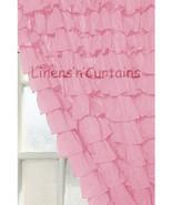 Chiffon RUFFLE Layered Baby Pink1 CURTAIN - $89.99+