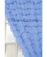 Chiffon RUFFLE Layered Blue CURTAIN - $89.99+