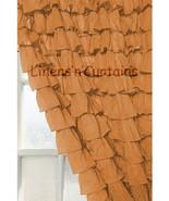 Chiffon RUFFLE Layered Bronze CURTAIN - $89.99+
