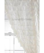Chiffon WHITE Ruffle Layered SHOWER CURTAIN (FREE Size Customization) - $129.99