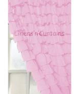 Chiffon BABY PINK Ruffle Layered SHOWER CURTAIN (FREE Size Customization) - $129.99