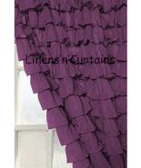 Chiffon BERRY Ruffle Layered SHOWER CURTAIN (FREE Size Customization) - $129.99
