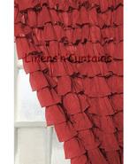 Chiffon BURGUNDY Ruffle Layered SHOWER CURTAIN (FREE Size Customization) - $129.99