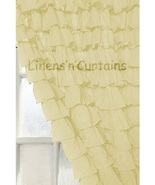 Chiffon CREAM Ruffle Layered SHOWER CURTAIN (FREE Size Customization) - $129.99