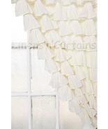 Chiffon CREAM2 Ruffle Layered SHOWER CURTAIN (FREE Size Customization) - $129.99