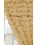 Chiffon GOLD Ruffle Layered SHOWER CURTAIN (FREE Size Customization) - $129.99