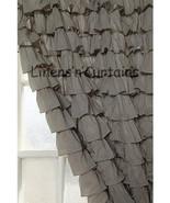 Chiffon GREY Ruffle Layered SHOWER CURTAIN (FREE Size Customization) - $129.99